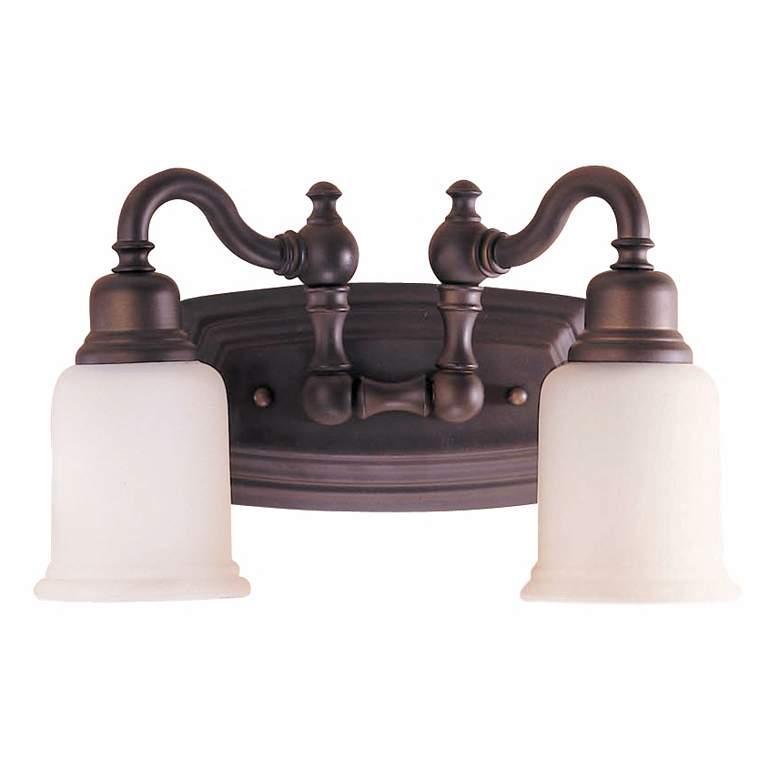 "Canterbury 14""W Oil-Rubbed Bronze 2-Light Bathroom Light"