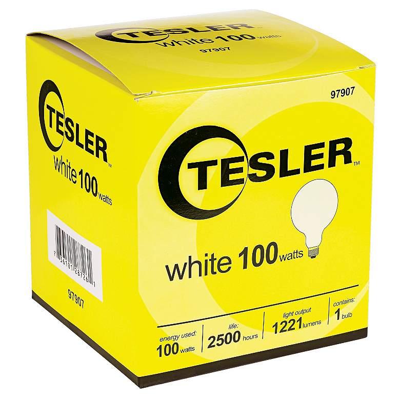 Tesler 100 Watt G40 White Glass Light Bulb