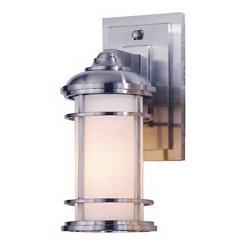 """Feiss Lighthouse 11"""" High Steel Outdoor Wall Light"""