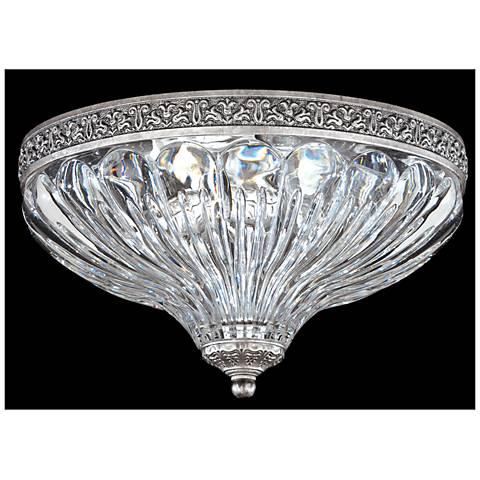"Schonbek Milano 10"" Wide Roman Silver Crystal Ceiling Light"