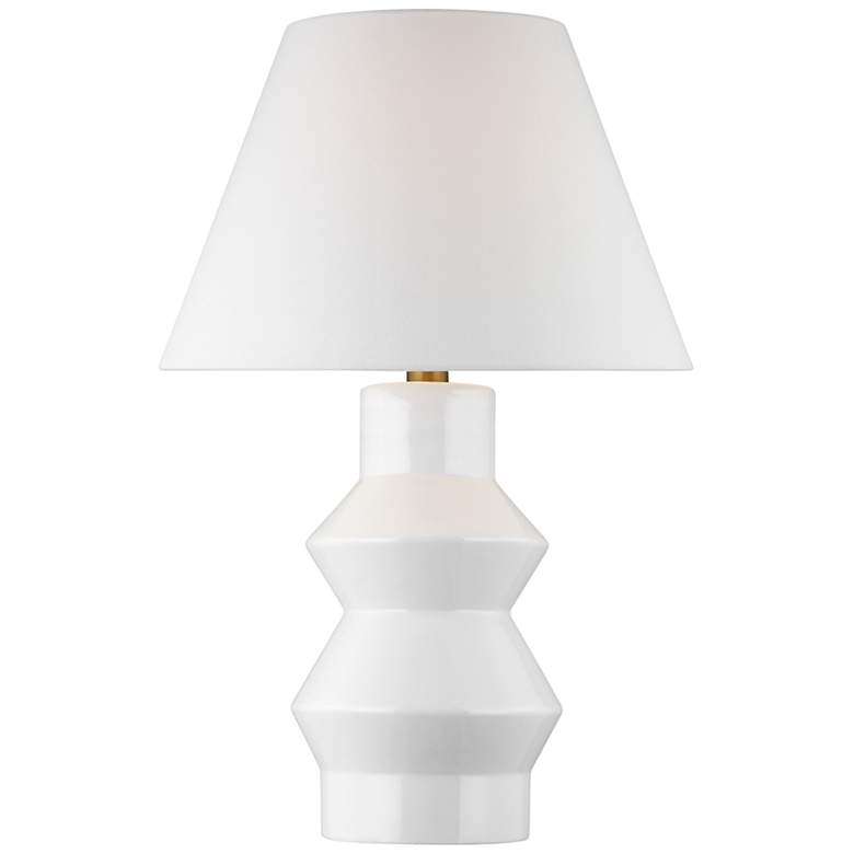 Chapman & Meyrs Arctic White Modern Angular Ceramic LED Table Lamp