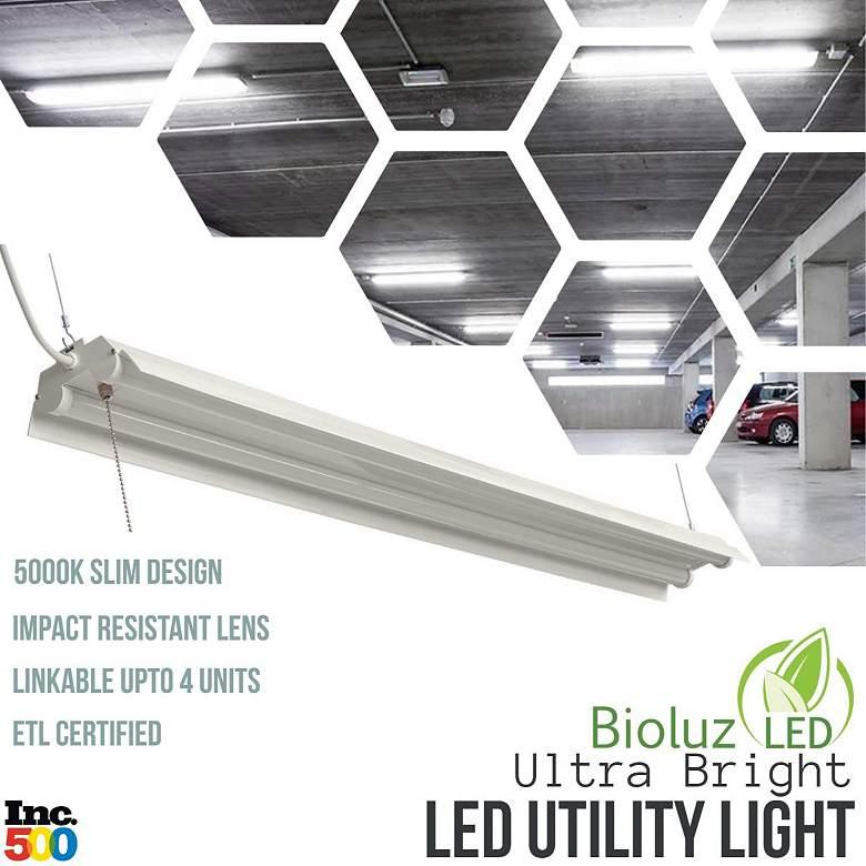 "Bioluz 47 1/2"" Wide Bright White Dual LED Utility Shop Light"