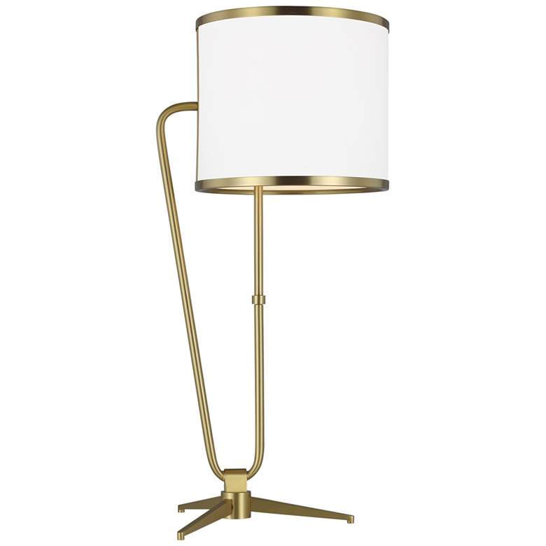 Jacobson Burnished Brass Ellen DeGeneres Collection Modern LED Table Lamp