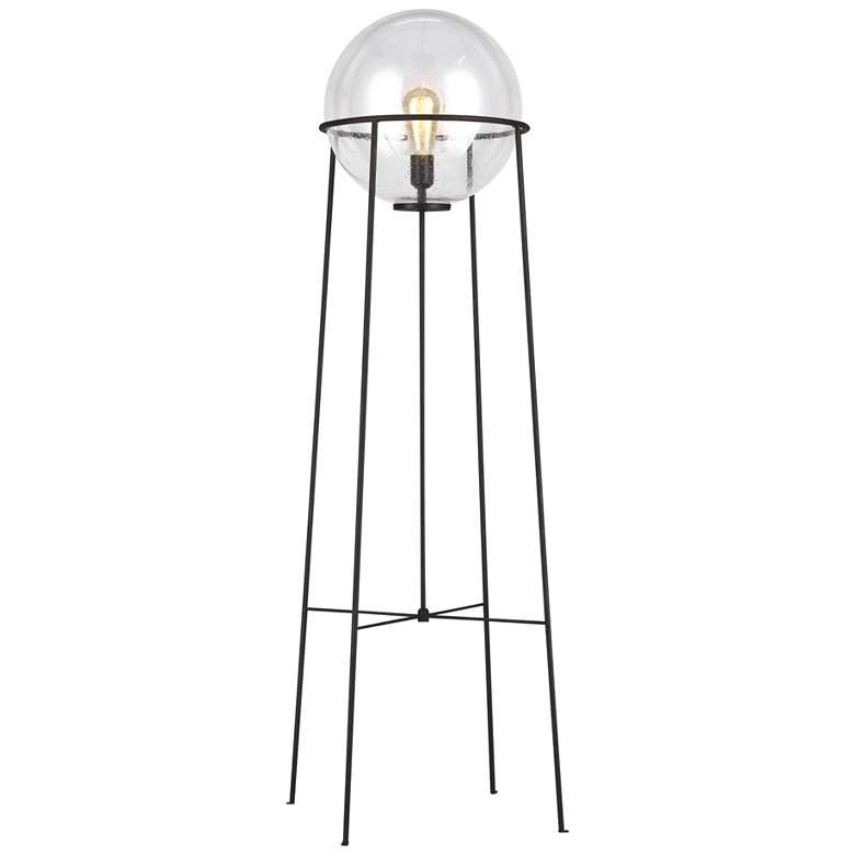 Atlas Aged Iron and Glass Orb Shade LED Floor Lamp by Ellen DeGeneres