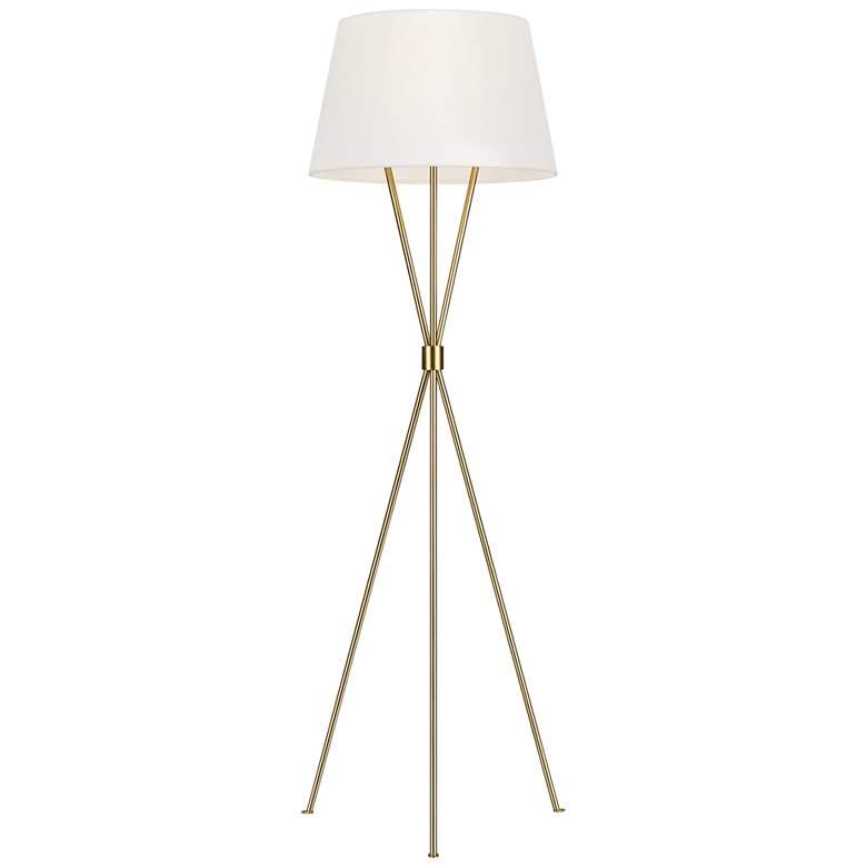 Ellen DeGeneres  Penny Burnished Brass LED Floor Lamp