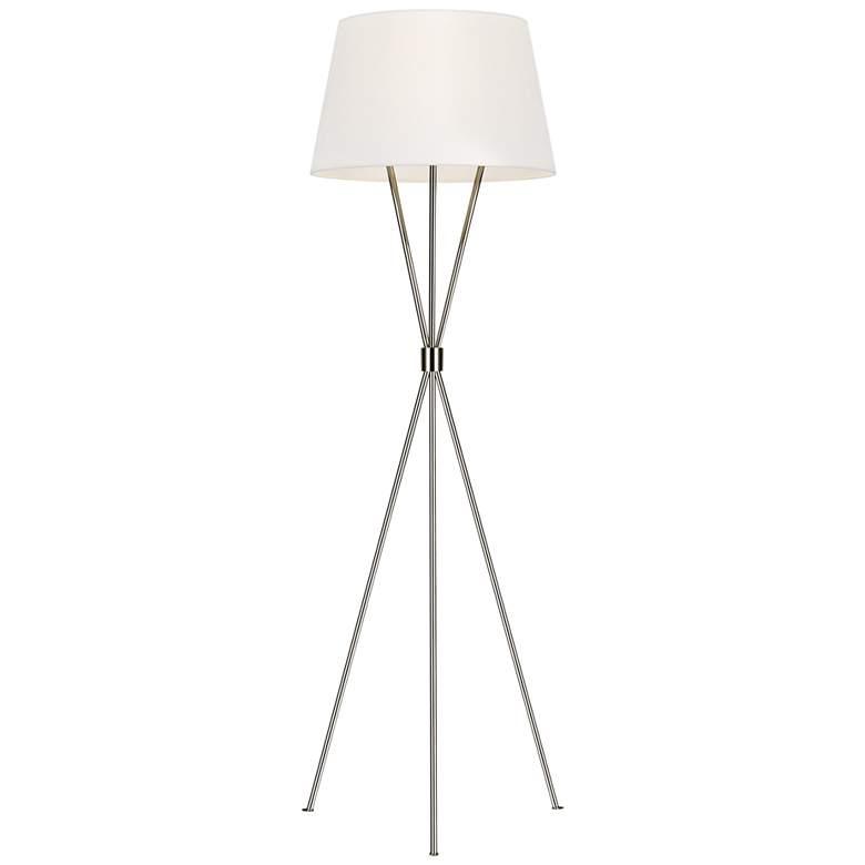 Ellen DeGeneres Penny Polished Nickel LED Tripod Floor Lamp