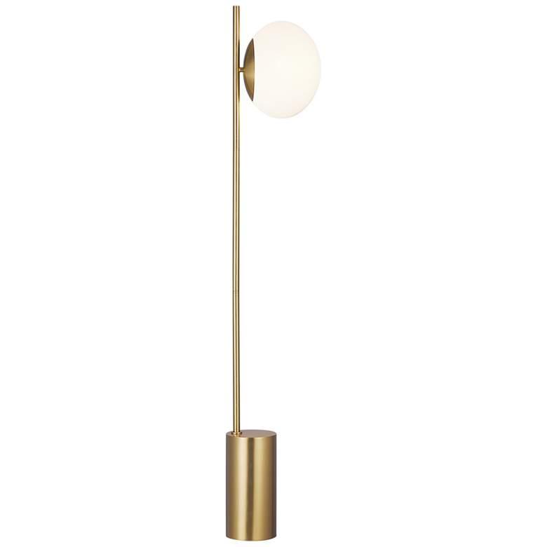 Ellen DeGeneres Lune Burnished Brass LED Floor Lamp