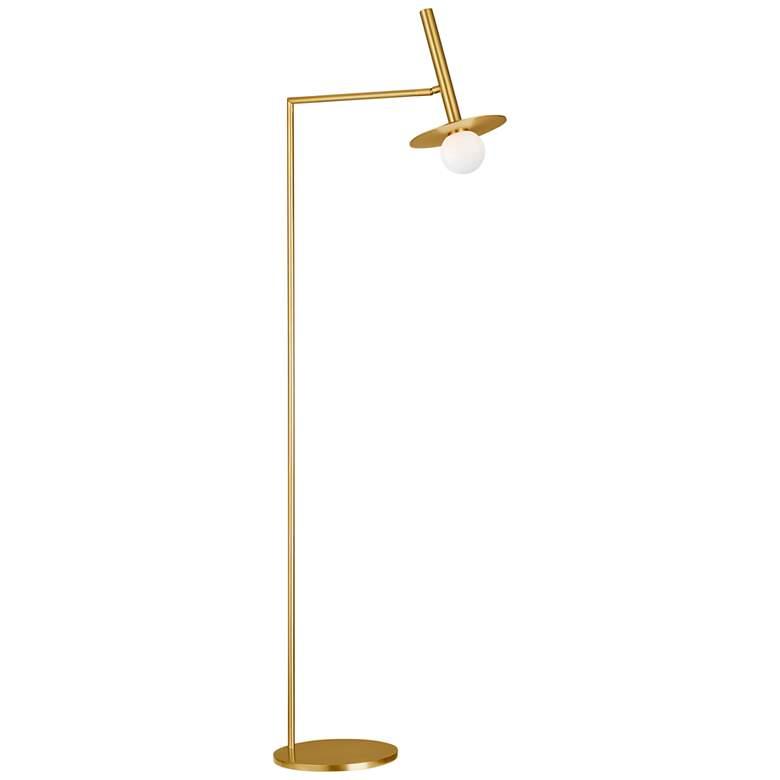 Nodes Burnished Brass LED Floor Lamp by Kelly Wearstler