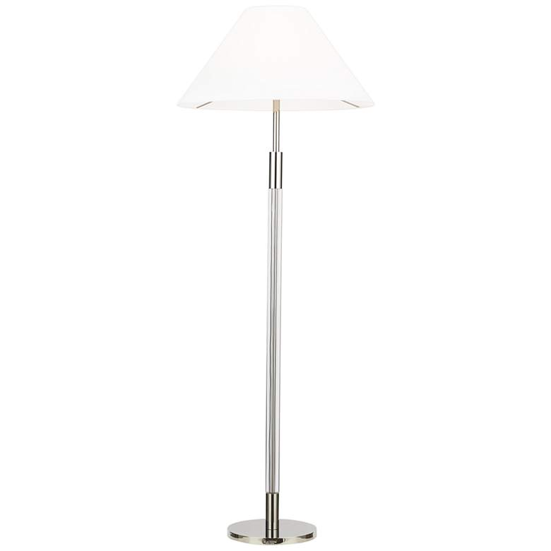 Robert Polished Nickel White Shade LED Floor Lamp by Ralph Lauren