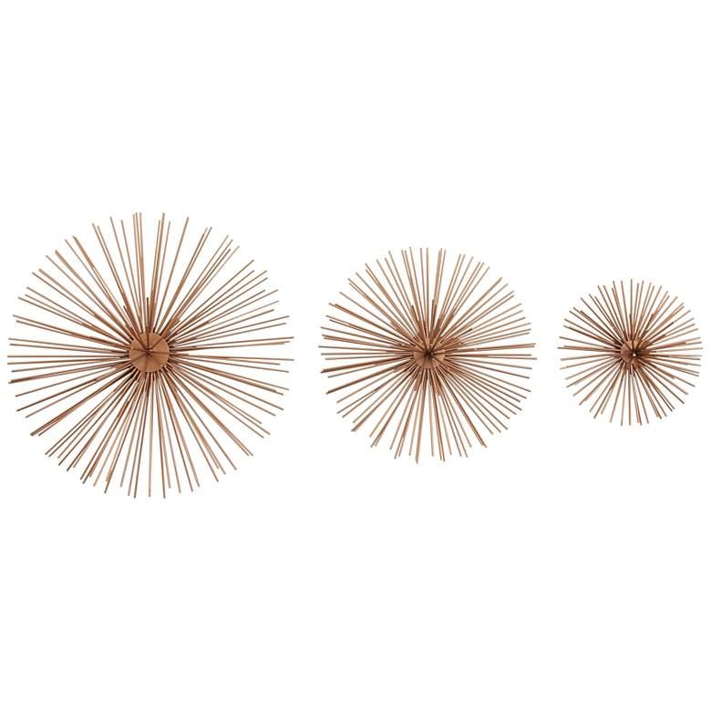 Seema Textured Copper 3-Piece Metal Wall Art Set
