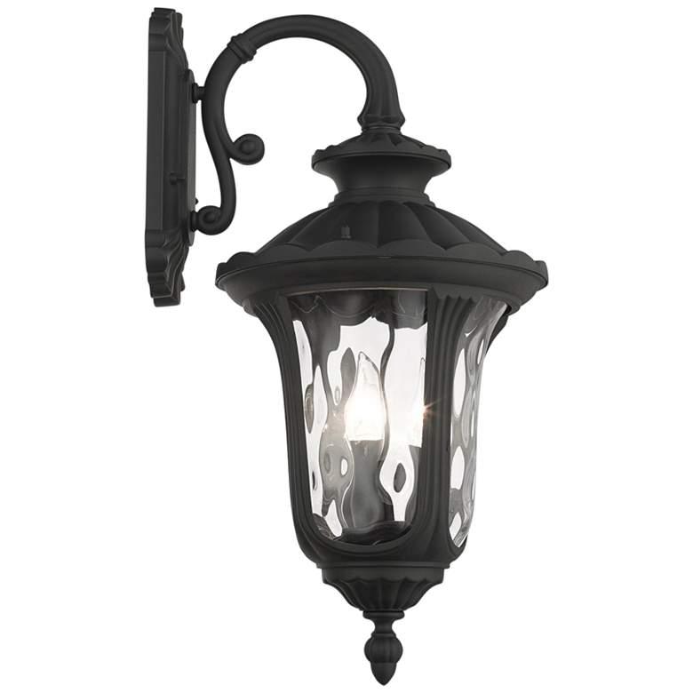"Oxford 22 1/2""H Black Downward Lantern Outdoor Wall Light"