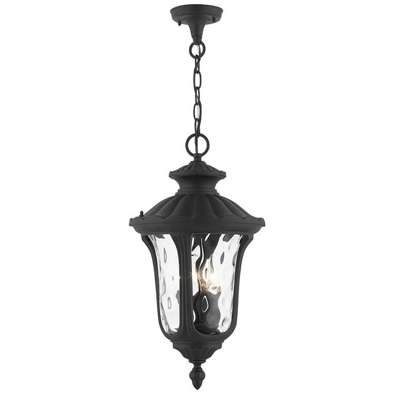 "Oxford 20 1/2""H Textured Black Lantern Outdoor Hanging Light"