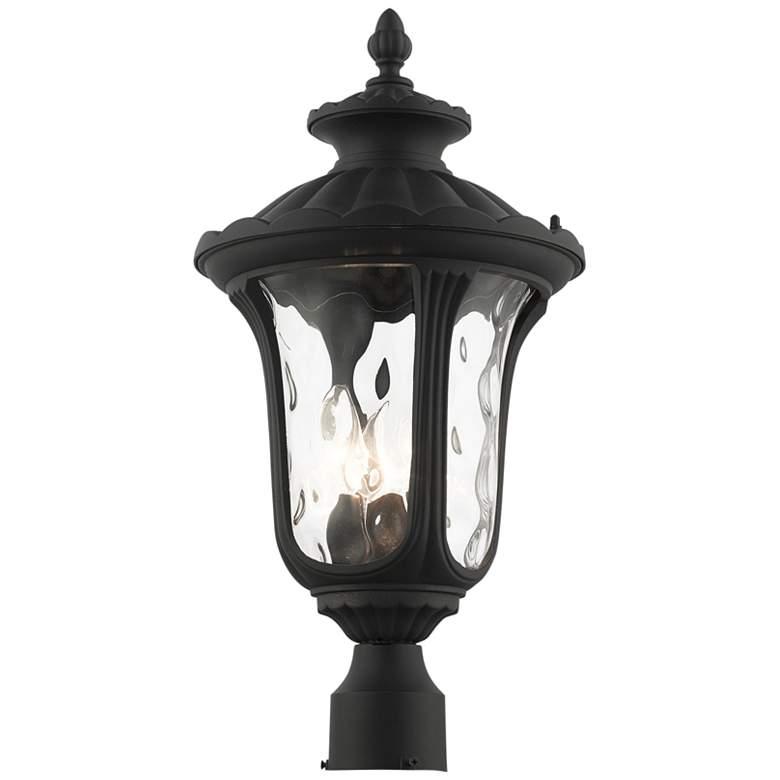 "Oxford 22"" High Textured Black Lantern Outdoor Post Light"