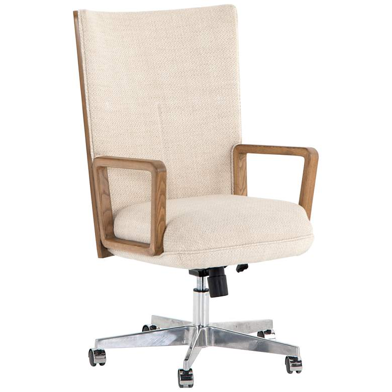 Cohen Mid-Century Irving Taupe Adjustable Swivel Desk Chair