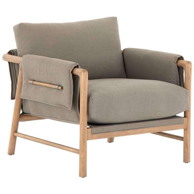 Harrison Mid-Century Olive Green Parawood Chair