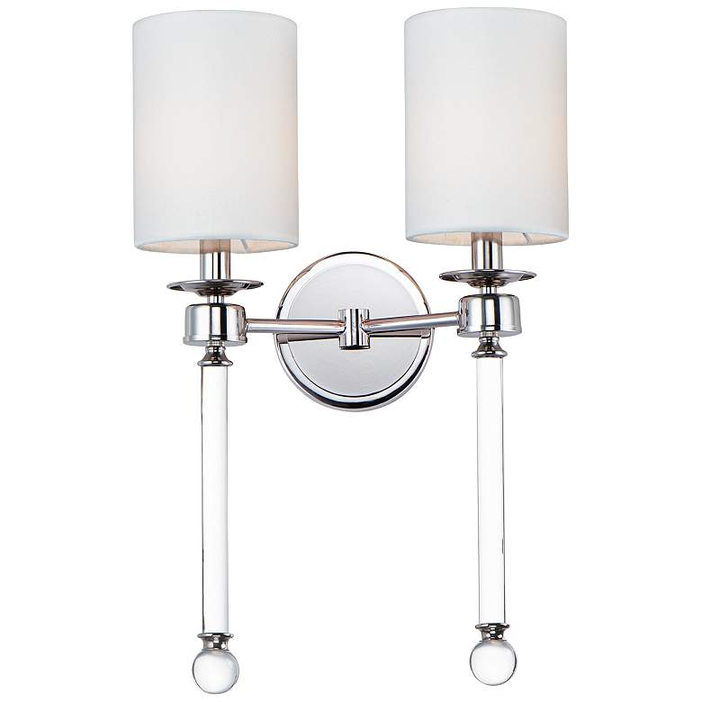 """Maxim Lucent 21"""" High Polished Nickel 2-Light Wall Sconce"""