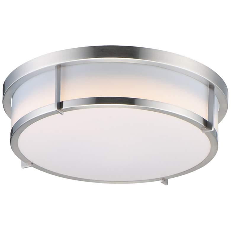 "Maxim Rogue 17"" Wide Satin Nickel LED Ceiling Light"