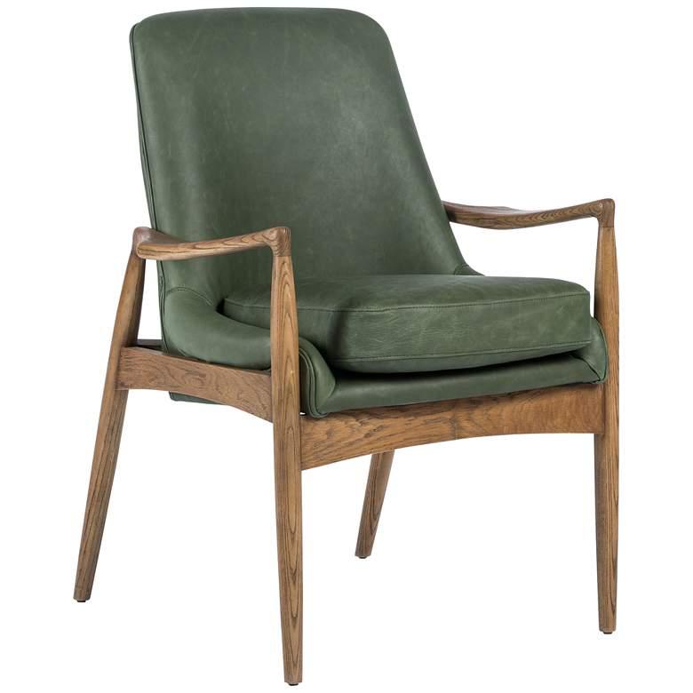 Braden Mid-Century Eden Leather and Oak Dining Armchair