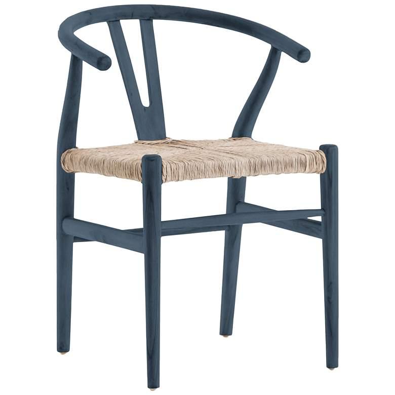 Muestra Rustic Blue Teak Dining Chair