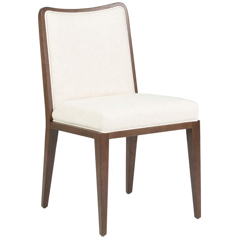 Lydia Modern Flax White Dining Chair