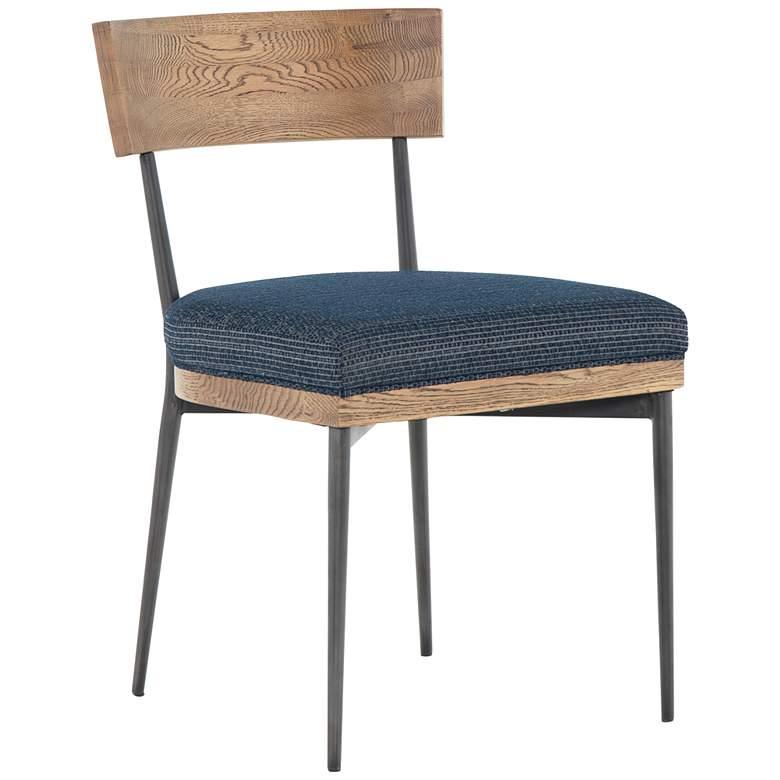 Marlene Modern Blue Iron Dining Chair