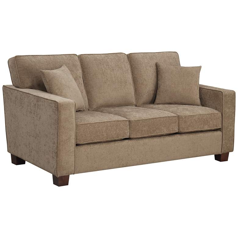 "Russell 70 3/4"" Wide Earth 3-Seater Sofa with 2 Pillows"
