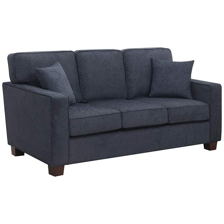 """Russell 70 3/4"""" Wide Navy 3-Seater Sofa with 2 Pillows"""