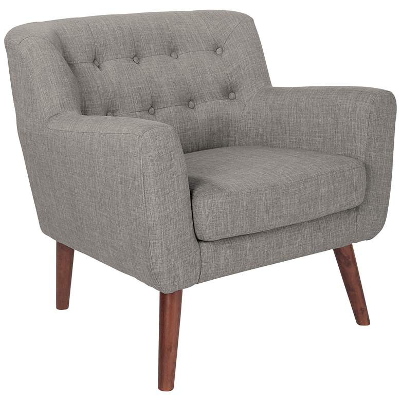 Mill Lane Cement Button-Tufted Accent Chair