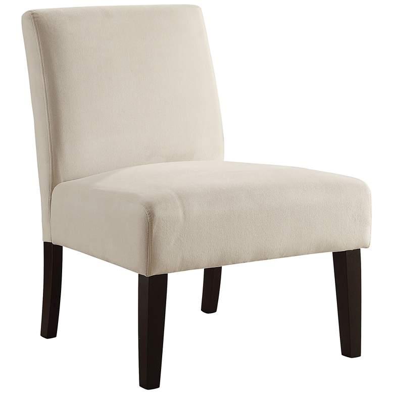 Laguna Oyster Velvet Armless Accent Chair