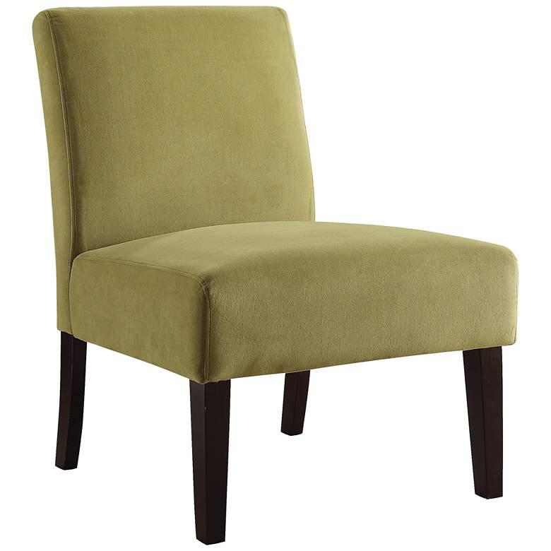 Laguna Basil Velvet Armless Accent Chair