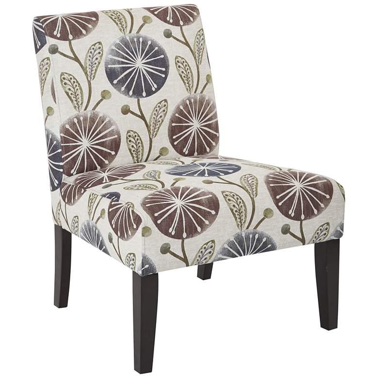 Laguna Dandelion Plum Armless Accent Chair