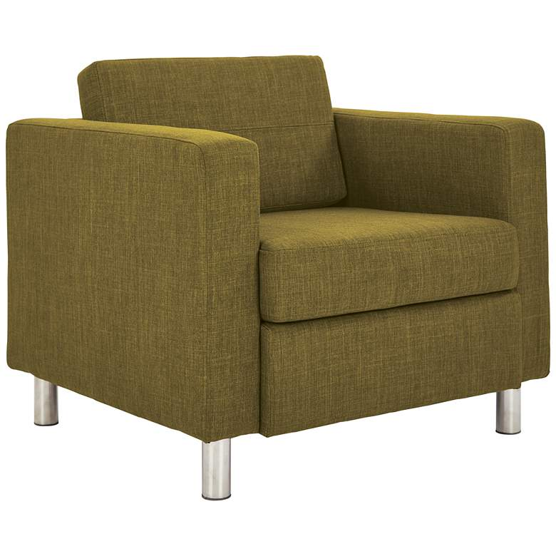 Pacific Solid Green Fabric Armchair