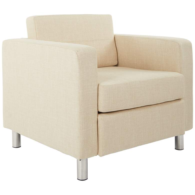 Pacific Solid Cream Fabric Armchair