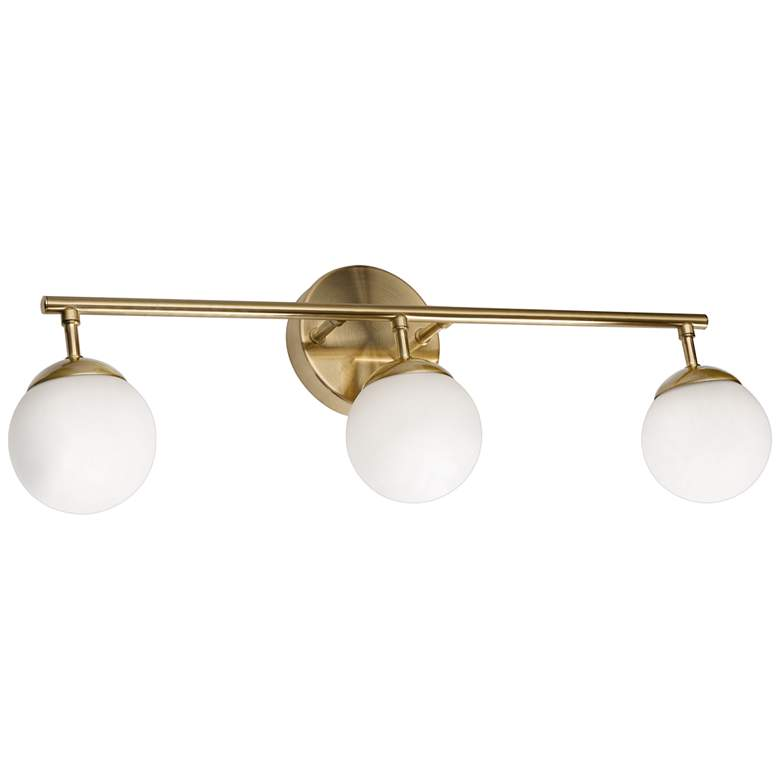 "Pearl 21 1/2"" Wide Gold Metal 3-Light LED Bath Light"