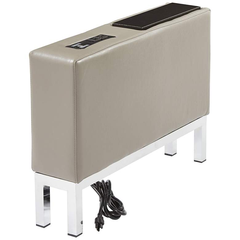 Wall Street Smoke Faux Leather AC and USB Center Console