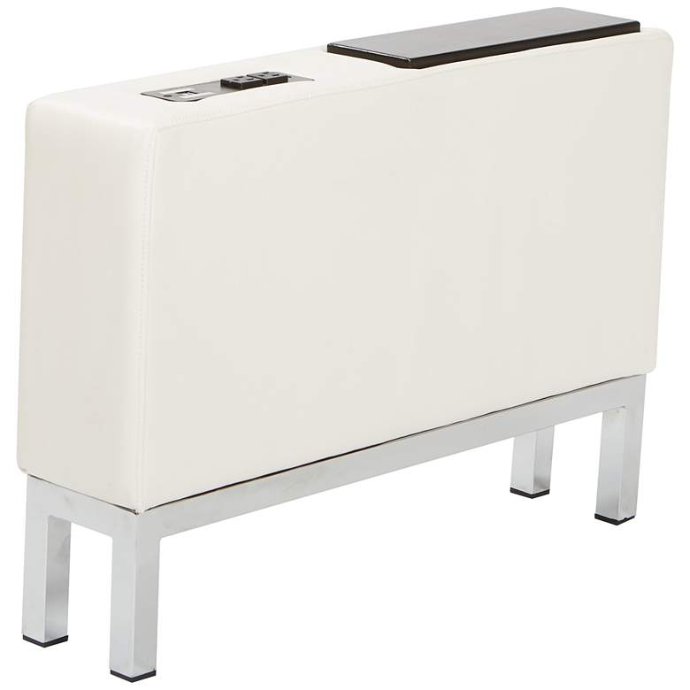Wall Street White Faux Leather AC and USB Center Console