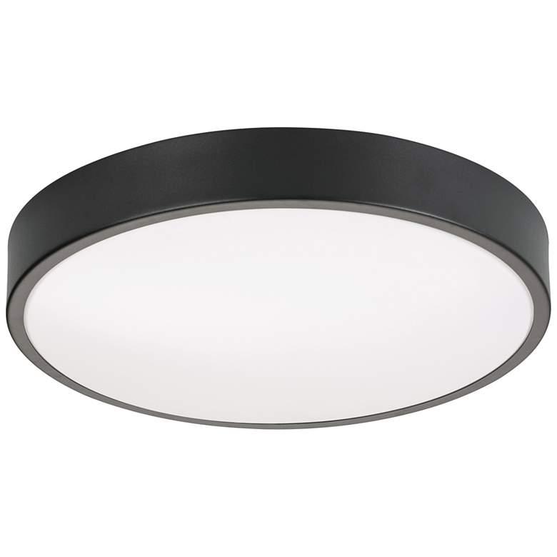 "Octavia 12"" Wide Round Black LED Ceiling Light"