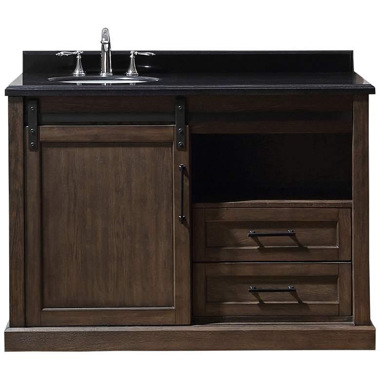 "Laredo 48"" Wide Rustic Walnut 2-Drawer Single Sink Vanity"