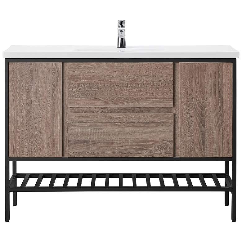"""Memphis 47 3/4"""" Wide Taupe 2-Door Single Sink Vanity"""