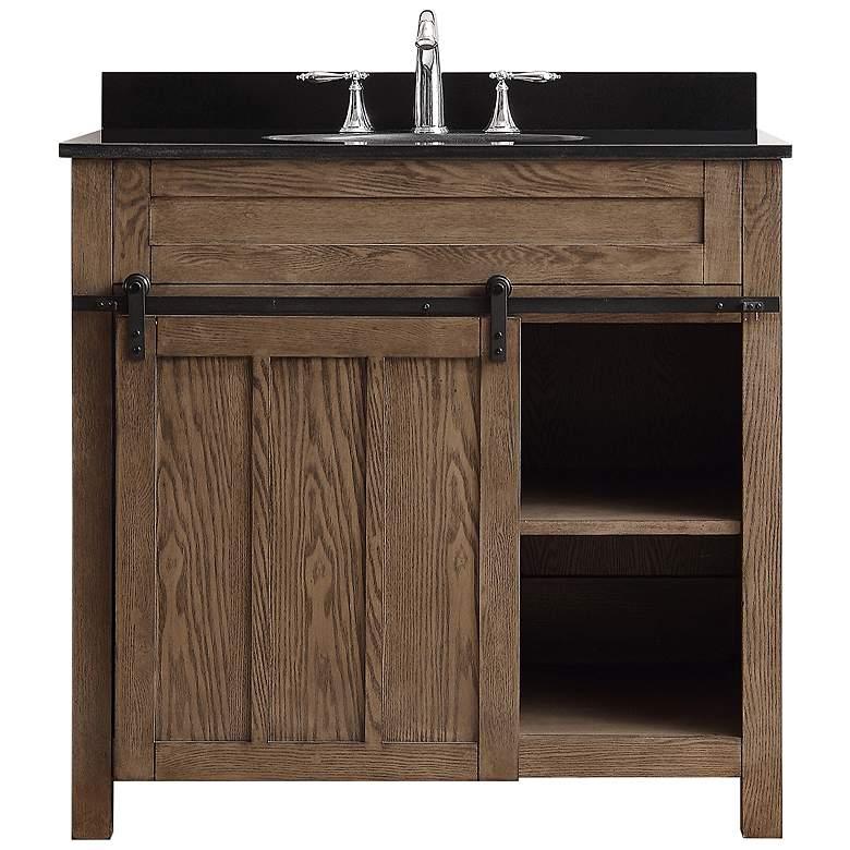 """Oakland 36"""" Wide Classic Nutmeg 1-Door Single Sink Vanity"""