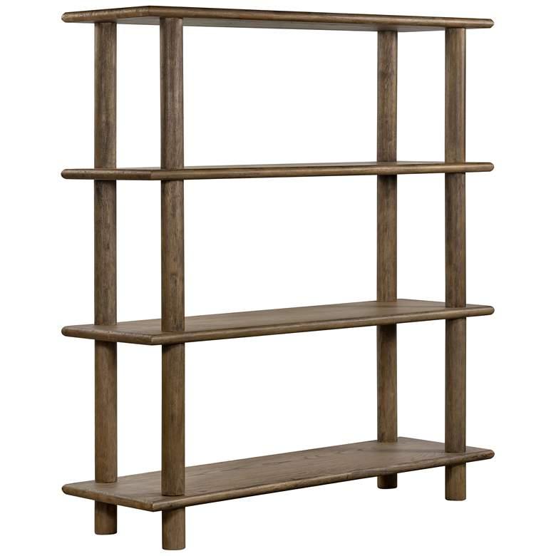 """Mattia 70"""" High Toasted Natural Parawood 4-Shelf Bookshelf"""
