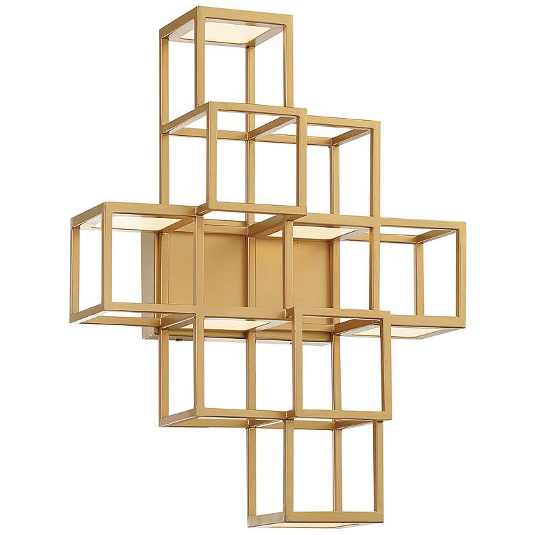 "Eurofase Ferro 14 1/4"" High Gold 6-Light LED Wall Sconce"