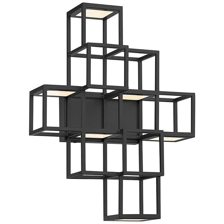 "Eurofase Ferro 14 1/4"" High Black 6-Light LED Wall Sconce"