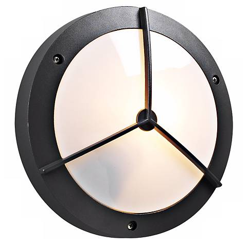 """PLC Bronze 14"""" Wide Round Ceiling or Wall Outdoor Light"""