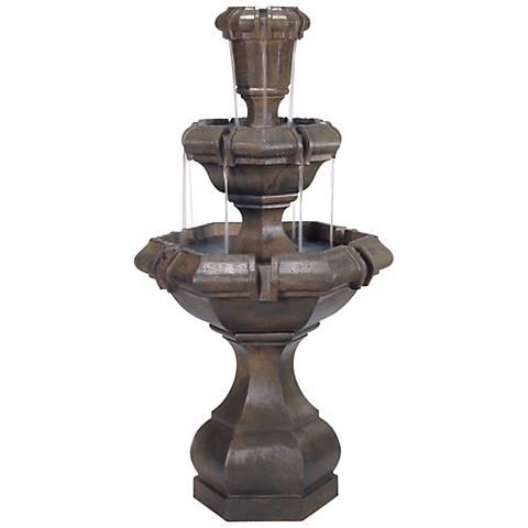 "Henri Studio 51"" High Kensington 2-Tier Cast Stone Fountain"