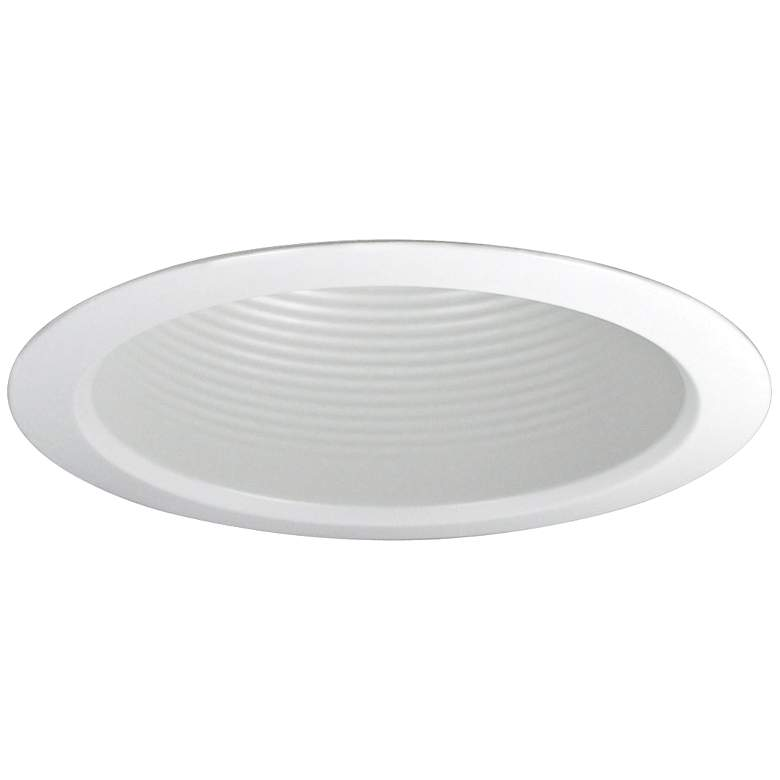 "Nora 5"" Wide White Airtight Baffle Cone Recessed Light Trim"