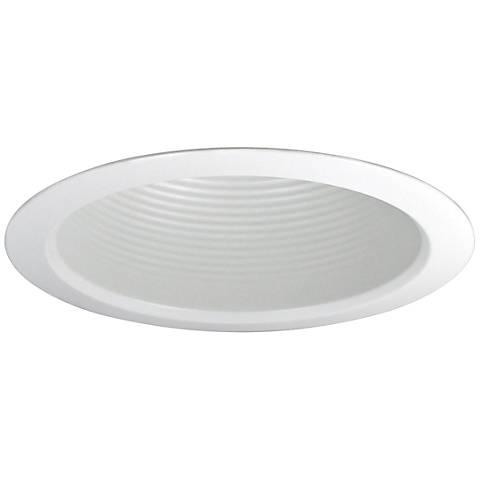 """Nora 5"""" Wide White Airtight Baffle Cone Recessed Light Trim"""
