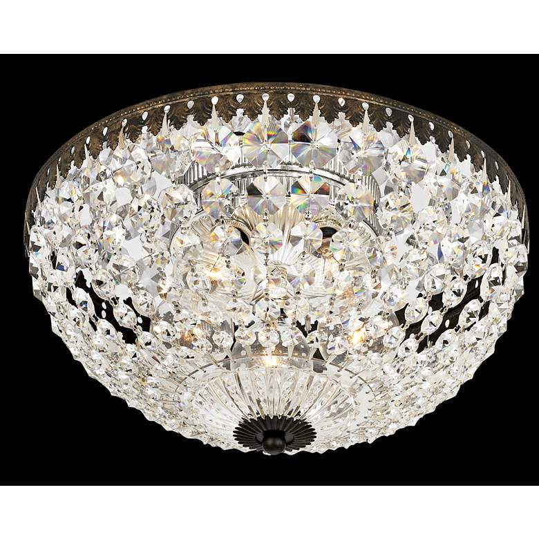 "Schonbek Empire Spectra Crystal 12"" Wide Ceiling Light"
