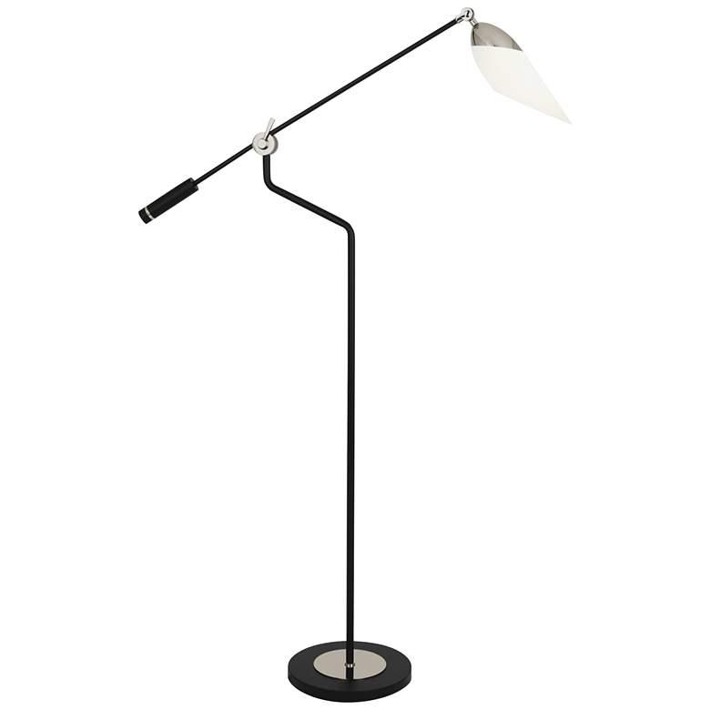 Ferdinand Matte Black and Nickel Adjustable Floor Lamp