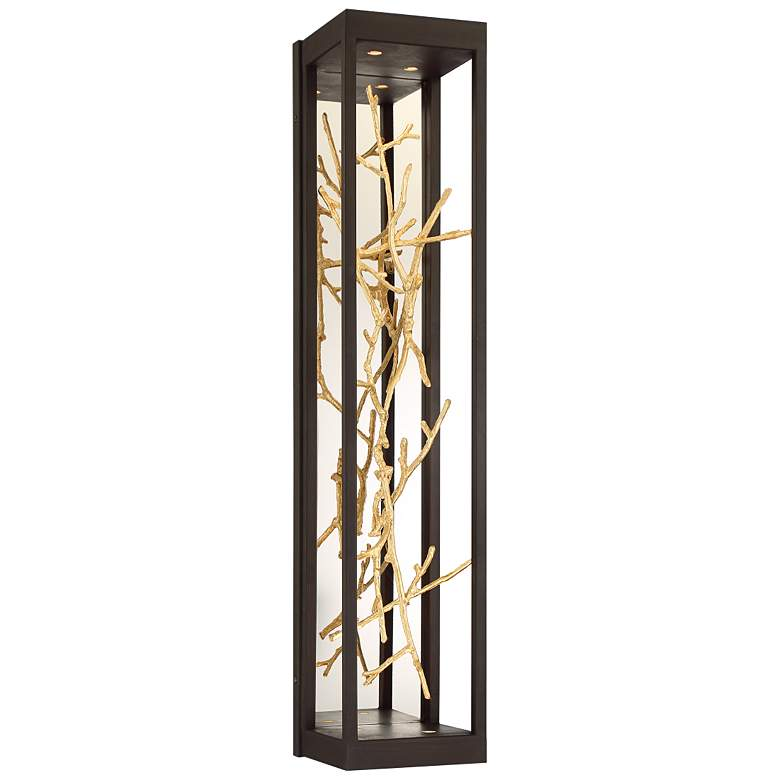"""Eurofase Aerie 30"""" High Bronze and Gold 4-Light LED Wall Sconce"""